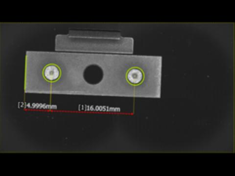 画像寸法測定器(KEYENCE IM-7000)による測定例